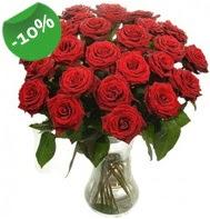 Vazo içerisinde 25 adet kırmızı gül  Kırklareli çiçek gönderme