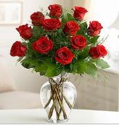 Vazo içerisinde 12 kırmızı gül  Kırklareli çiçek online çiçek siparişi