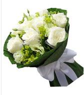 9 adet beyaz gül buketi  Kırklareli yurtiçi ve yurtdışı çiçek siparişi