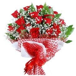 11 kırmızı gülden buket  Kırklareli çiçek , çiçekçi , çiçekçilik
