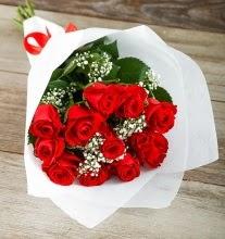9 kırmızı gülden buket çiçeği  Kırklareli anneler günü çiçek yolla