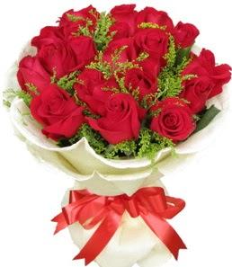 19 adet kırmızı gülden buket tanzimi  Kırklareli çiçek siparişi sitesi