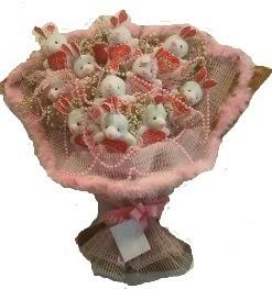 12 adet tavşan buketi  Kırklareli internetten çiçek satışı