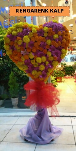Ankara mevsim çiçeklerinden kalp perförje  Kırklareli hediye sevgilime hediye çiçek