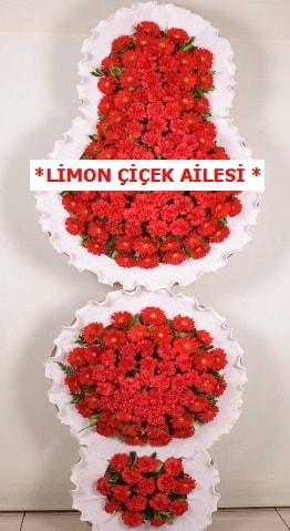 3 katlı kırmızı düğün açılış çiçeği  Kırklareli anneler günü çiçek yolla