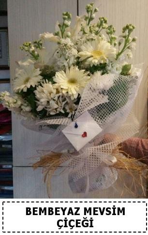 Bembeyaz görsel mevsim çiçek buketi  Kırklareli 14 şubat sevgililer günü çiçek