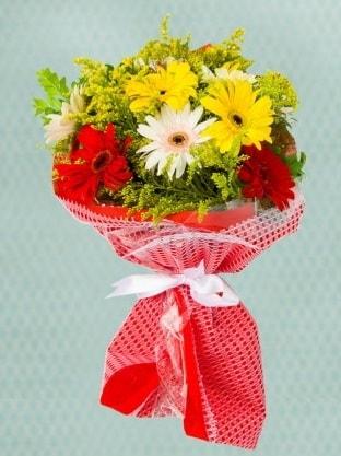 Karışık Gelbera Buketi  Kırklareli yurtiçi ve yurtdışı çiçek siparişi