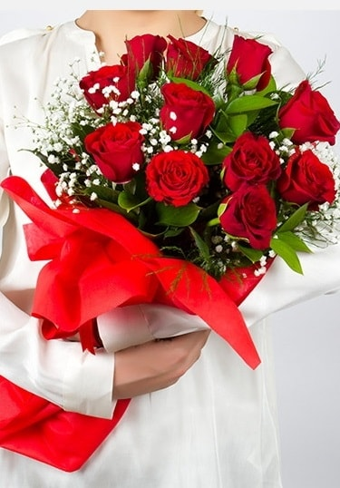 Aşk Gülleri 11 Adet kırmızı gül buketi  Kırklareli hediye sevgilime hediye çiçek