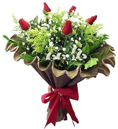5 adet gülden buket  Kırklareli uluslararası çiçek gönderme