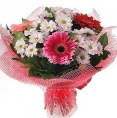 Gerbera ve kır çiçekleri buketi  Kırklareli İnternetten çiçek siparişi