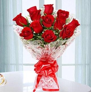 11 adet kırmızı gülden görsel şık buket  Kırklareli çiçek mağazası , çiçekçi adresleri