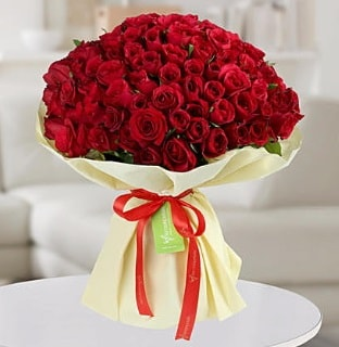 101 adet kırmızı gül buketi koca demet  Kırklareli İnternetten çiçek siparişi