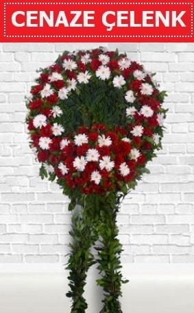 Kırmızı Beyaz Çelenk Cenaze çiçeği  Kırklareli cicekciler , cicek siparisi