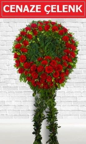 Kırmızı Çelenk Cenaze çiçeği  Kırklareli cicekciler , cicek siparisi