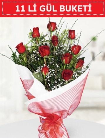 11 adet kırmızı gül buketi Aşk budur  Kırklareli uluslararası çiçek gönderme