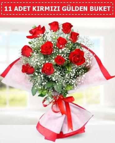 11 Adet Kırmızı Gül Buketi  Kırklareli İnternetten çiçek siparişi