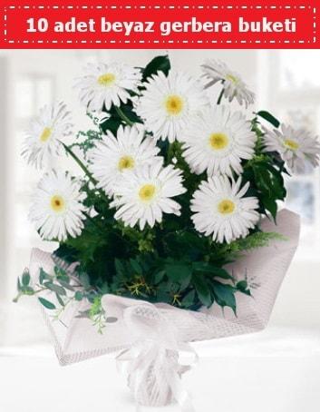 10 Adet beyaz gerbera buketi  Kırklareli çiçek servisi , çiçekçi adresleri