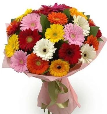 Karışık büyük boy gerbera çiçek buketi  Kırklareli çiçek online çiçek siparişi